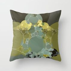 courtney - abstract design of pale aquamarine chartreuse green taupe brown Throw Pillow by sherodesign - Cover x with Interior Design Living Room Warm, White Interior Design, Gold Interior, Brown Throw Pillows, Toss Pillows, Taupe Bedroom, Bedroom Decor, Grey And Gold, Green And Grey