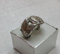 Rosenring  100er Silberbesteck Kuchengabel SR527 von Atelier Regina auf DaWanda.com