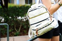 Amp up your backpack with studs.