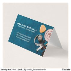Sewing Kit Tools   Backdrop Business Card