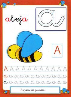 Fichas del abecedario para grafomotricidad