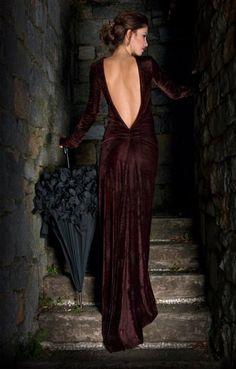 Burgundy velvet dress - vestido de terciopelo granate