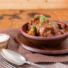 This thick and hearty slow cooked oxtail stew is winter comfort food at its very finest. Slow cooked and tender, add this to recipes to try in your slow cooker, crockpot or potjie. Oxtail Recipes, Slow Cooker Recipes, Cooking Recipes, Oxtail Stew, South African Recipes, Roasted Meat, Winter Food, Lunches And Dinners, Casserole Recipes