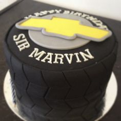 Something like this would be so easy to make. Birthday Cakes For Men, 65th Birthday, Birthday For Him, Cars Birthday Parties, Cakes For Boys, Baby Birthday, Birthday Party Decorations, Tire Cake, Sushi Cake