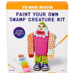 Your Own Kids' Kid Made Modern® paint swamp creature kit Arts And Crafts Kits, Craft Kits For Kids, Gifts For Kids, Swamp Creature, Wood Crafts, Diy Crafts, Jewelry Kits, Summer Art, Creative Kids