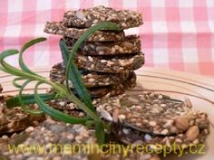 Slané chia sušenky Healthy Sweets, Green Beans, Ham, Smoothies, Protein, Low Carb, Vegetarian, Herbs, Baking