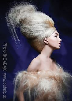 #Hair  #Texture Avantgarde #hairup #crimped #blonde