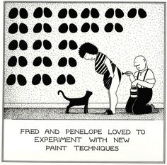 New Paint Techniques Funny Fred Birthday Card Rupert Fawcett Humour Cards Funny Cartoons, Funny Comics, You Dont Say, The Far Side, Love My Husband, Unique Cards, Funny Cards, Painting Techniques, Birthday Cards