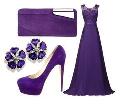 """""""Long violet/purple prom dress"""" by pinkunicorn007 ❤ liked on Polyvore featuring COSTUME NATIONAL and Brian Atwood"""