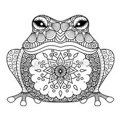 Coloriage Mandala Animaux Tortue