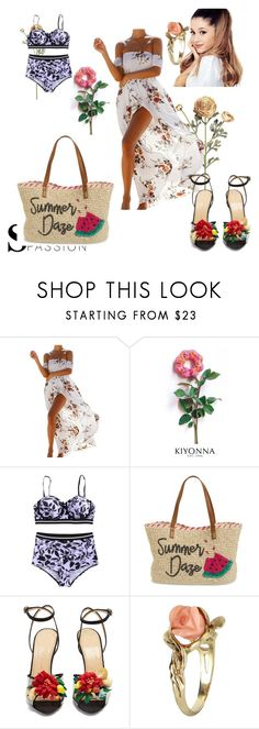 """""""summer"""" by david111 ❤ liked on Polyvore featuring Kiyonna, Nordstrom, Charlotte Olympia and Vintage"""