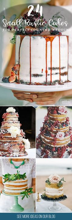 24 Small Rustic Wedding Cakes For Perfect Country Reception ❤ The most yummy and fun part of any wedding is a cake. If you want to save some cash pay attention to small rustic wedding cakes. See more: http://www.weddingforward.com/small-rustic-wedding-cakes/ #weddings #rustic