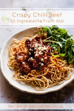 Skip takeaway and pan sear your own crispy chilli beef. Crispy seared beef is tossed in a homemade sticky & sweet ginger chilli sauce. Aldi Recipes, Beef Recipes, Cooking Recipes, Healthy Recipes, Recipies, Chilli Beef Recipe, Crispy Chilli Beef, Midweek Meals, Quick Meals