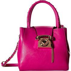 Betsey Johnson You Rang Bucket Bag ($29) ❤ liked on Polyvore featuring bags, handbags, shoulder bags, betsey johnson, betsey johnson purse, bucket handbag, betsey johnson handbags and pink handbags