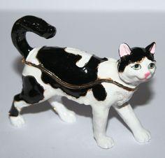 Black & White CAT Trinket Box / Ornament Gift *NEW* | eBay