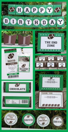 Football Ticket Invitation & Printable Sport Party