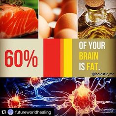 RP from @holistic_md : Yes. Believe it or not our brains are composed of 60 percent fat! In fact each of our neurons is covered in fat - a substance called myelin that is essential for quick nerve transmission and communication. (Thus without myelin you wouldn't be able to think move or feel...you wouldn't be able to live!) That being the case it should come as no surprise that our brains need fat to work correctly.  Whether you're a pescatarian vegetarian vegan or carnivore there are lots…