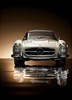 Can you smell the exhausts and feel the gently massaging your kneecaps when you throttle this baby.Mercedes Benz 300 SL Roadster Via Auto Clasico Luxury Sports Cars, Sport Cars, Sport Sport, Race Cars, Mercedes Benz 300, Mercedes Sport, Classic Mercedes Benz, Mercedes 2018, Mercedes Truck