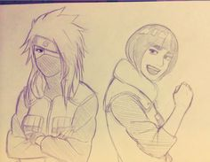 genderbent Kakashi and Gai by steampunkskulls.deviantart.com on @DeviantArt
