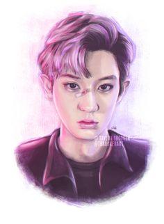 Taylor Brooker Art — 'LOTTO' Chanyeol (EXO) digital drawing ...