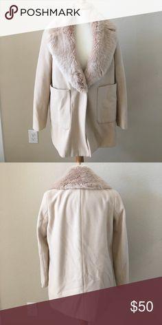 Zara Women's Wool Coat Single Button Cream Worn only a few times. Zara Jackets & Coats Pea Coats