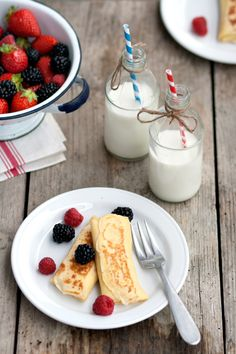 Blintzes - ricotta stuffed crepes