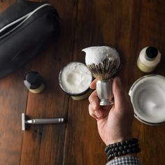 Engraved Silvertip Badger Shaving Brush generates a rich lather to help soften the beard hair. Lifts beard hair for a closer shave. Visit The Art of Shaving. Badger Shaving Brush, Wet Shaving, The Art Of Shaving, Cut Photo, Close Shave, Safety Razor, Beard Balm, Grooming Kit, Shaving