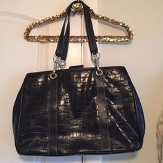 Black Work Bag, Purse, Diaper Bag, Travel Bag!