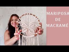 YouTube Macrame Design, Macrame Art, Macrame Jewelry, Homemade Rugs, Macrame Curtain, Micro Macramé, Macrame Tutorial, Macrame Patterns, Plant Hanger