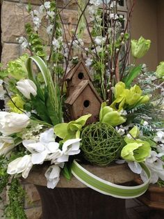 Welcome Spring with beautiful outdoor urns by Award Winning Designer Doris Brodie. Remember,Your best entrance is a Grand Entrance! Spring Flower Arrangements, Spring Flowers, Floral Arrangements, Easter Flowers, Entrance Design, Deco Floral, Easter Crafts, Easter Decor, Flower Pots
