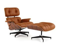 If only...Eames Lounge Chair with Ottoman - Palermo Dark Chocolate + Rosewood