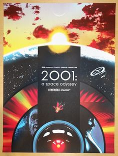 "2014 ""2001: A Space Odyssey"" - Movie Poster by Joshua Budich"