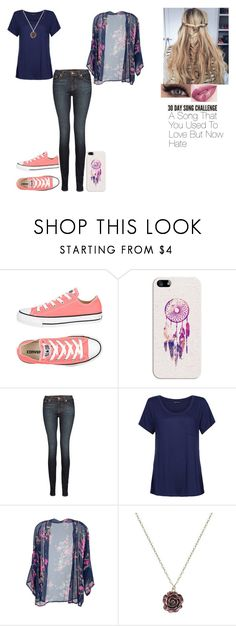 """""""30 Day song challenge: Day 16"""" by ilovecats-886 ❤ liked on Polyvore featuring Converse, Casetify, J Brand, M&S, 1928 and Anastasia Beverly Hills"""