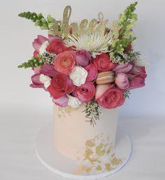 Heavy floral bridal shower cake