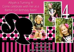 Barbie Birthday Invite