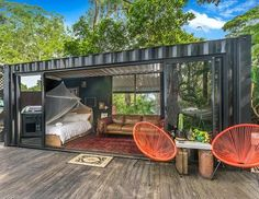 Looking for how to renovate shipping container into house, Shop, Garage or Workshop? Here are extensive shipping Container Houses Ideas for you! shipping container homes Container Hotel, Sea Container Homes, Building A Container Home, Container Buildings, Storage Container Homes, Container Architecture, Sustainable Architecture, Container Gardening, Tiny Container House