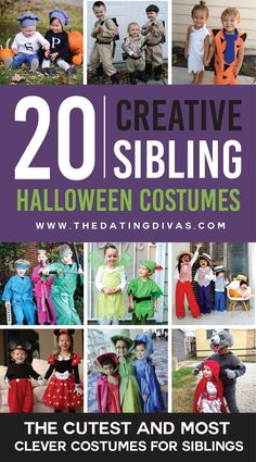 32 halloween costume ideas for kids girls!Sometimes store-bought Halloween costumes just don\'t cut it. These DIY Halloween costumes for kids are easy to make and more unique. Brother Halloween Costumes, Sister Costumes, Themed Halloween Costumes, Sibling Costume, Twin Halloween, Halloween Costumes For Toddlers, Disney Family Costumes, Toddler Boy Costumes, Toddler Games