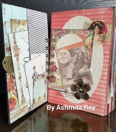 Prima Cigar Box secrets mini album. also be used as a junk journal or smashbook.