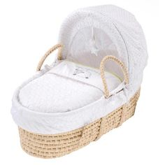 Silvercloud Moses Basket - White Rose Baby Boutique - 1
