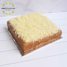 Cheese Spongecake with Cream Cheese Ganache and Grated Cheddar Cheese