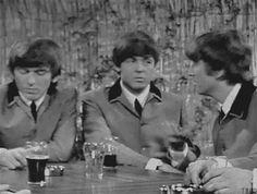 So cute! John making fun of Paul's gestures!