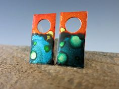 Tie Dye Ink Wash Earring Charms  1 Inch x 1/2 by SupplyYourSoul