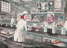 Undo Productivity, Rowe, Australian Financial Review   Political Cartoons Australia