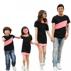 5c615c3f0b7 Stylish Family matching dress with multiple colors option