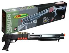 TSD Sports Single Shot Shell Loading Pump Action Spring Powered Airsoft Shotgun (Full Stock) by TSD. $61.13. The TSD Sports shell loading shotguns have hit the public by storm.  The new feature of loading actual shells that contain Airsoft BB's into the gun gives the shooter the experience of a real hunter.  Similar models of these shotguns can be seen on movies like War of Worlds.