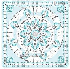 Transcendent Crochet a Solid Granny Square Ideas. Inconceivable Crochet a Solid Granny Square Ideas. Crochet Mandala Pattern, Crochet Square Patterns, Crochet Motifs, Granny Square Crochet Pattern, Crochet Diagram, Crochet Stitches Patterns, Crochet Chart, Crochet Squares, Crochet Granny
