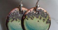 Beautiful enamel work!! - handmade jewelry - handmade earrings - etsy - artisan jewelry