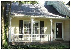 weekend porch makeover, curb appeal, lighting, porches, The railings were dated we needed an update Backyard Gazebo, Backyard Sheds, Outdoor Sheds, Porch Railing Designs, Front Porch Railings, Pictures Of Porches, Beach Chair With Canopy, Beach Chairs, Small Porches