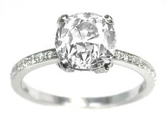 Edwardian Style 2.22ct  Diamond  Engagement Ring