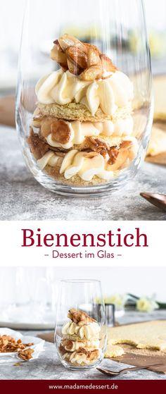 Rezept für Bienenstich Dessert im Glas mit Mandelkrokant Quick Healthy Desserts, Easy Snacks, Quick Easy Meals, Easy Desserts, Healthy Snacks, Stay Healthy, Mini Desserts, Desserts In A Glass, Dessert Simple